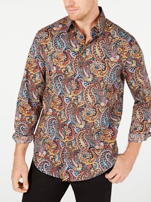 Mens brown Print Shirt
