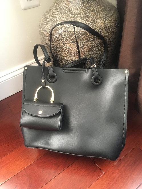 Black Wallet and Purse Bag