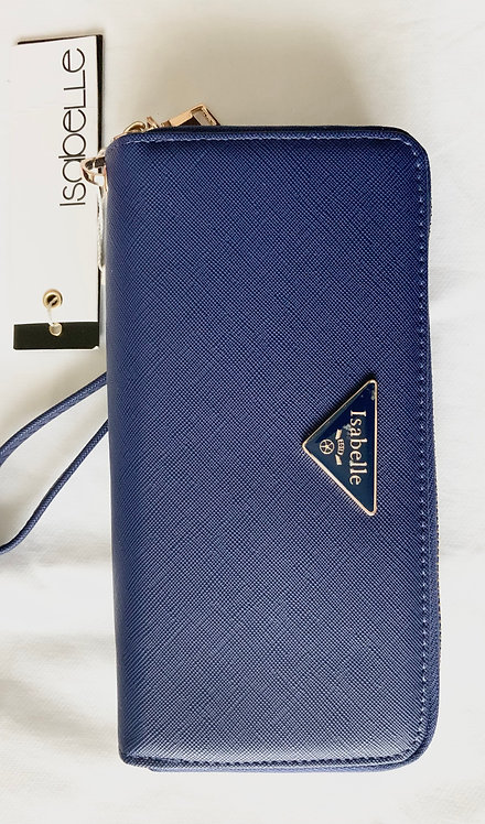 Blue Isabelle women's Black Floral wallet