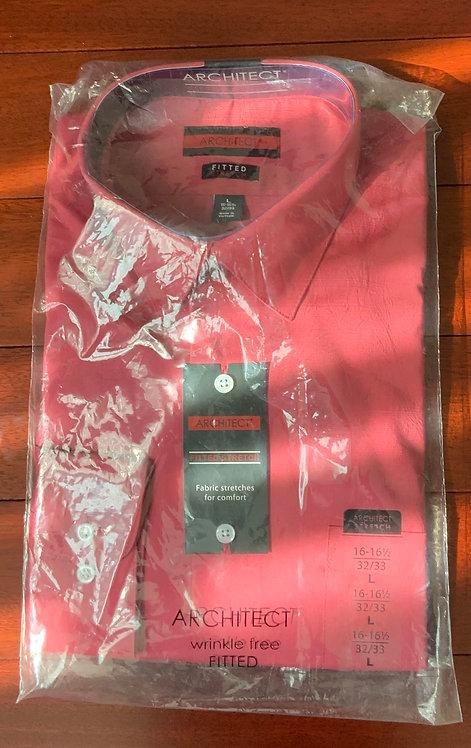 Architect Solid Strawberry Shirt  Size 16