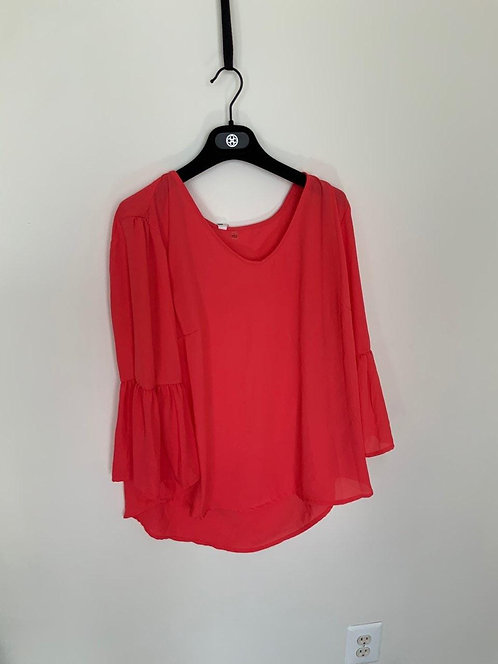 Night Red Long Blouse