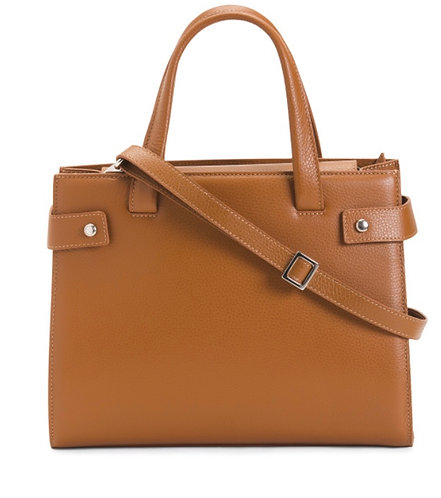 Vicha Brown Italian Handbag