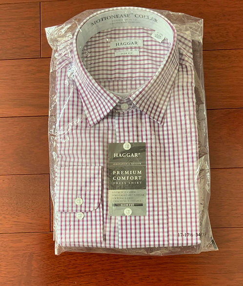 Haggar Multi Plaid Shirt  Size 17
