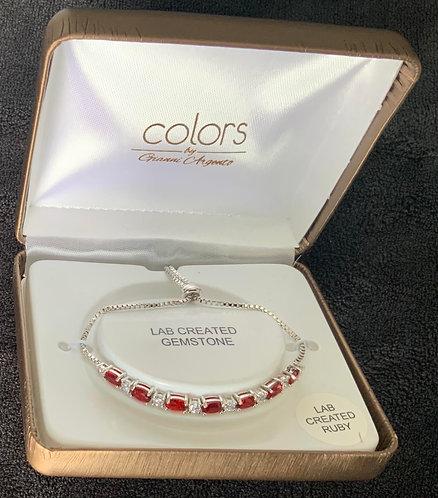 Red Colors Gemstone Bracelet