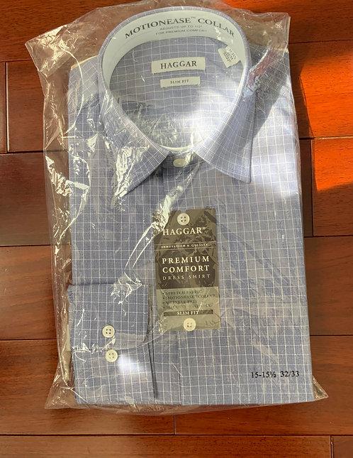 Haggar Blue Plaid Shirt  Size 15 GHS 145