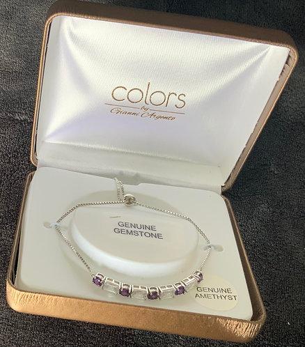 Purple Colors Gemstone Bracelet