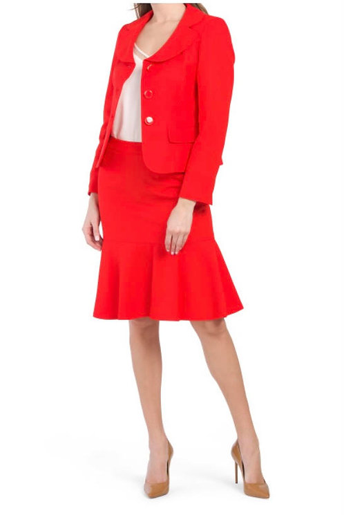 Red women's business Suit