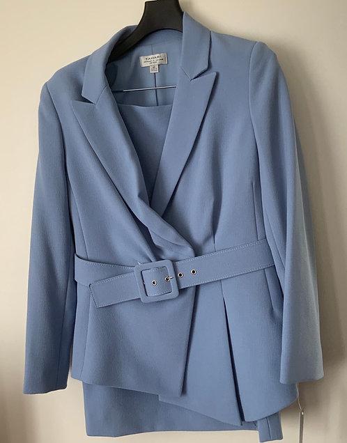 Blue belted Blazer