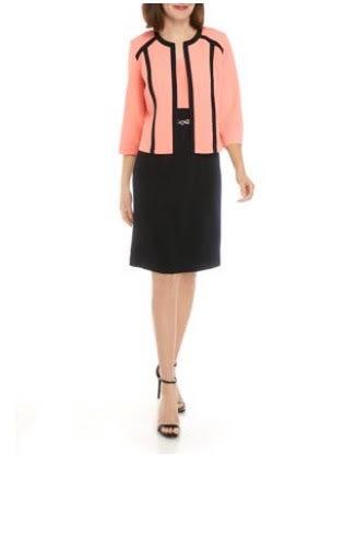 Coral & Black Dress Suit