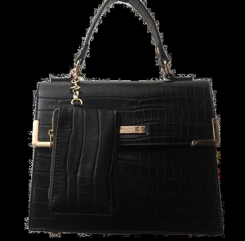 Dune London Black Croc Handbag
