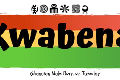 Fridge Magnet Souvenir Kwabena-Male Born on Tuesday