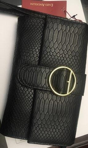 Enzo Angiolini Buckle Convertible Wallet