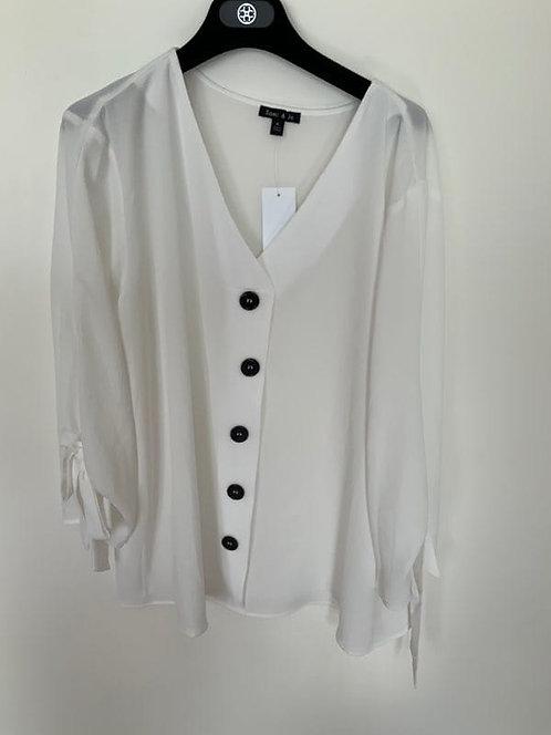 Dress Down White Blouse
