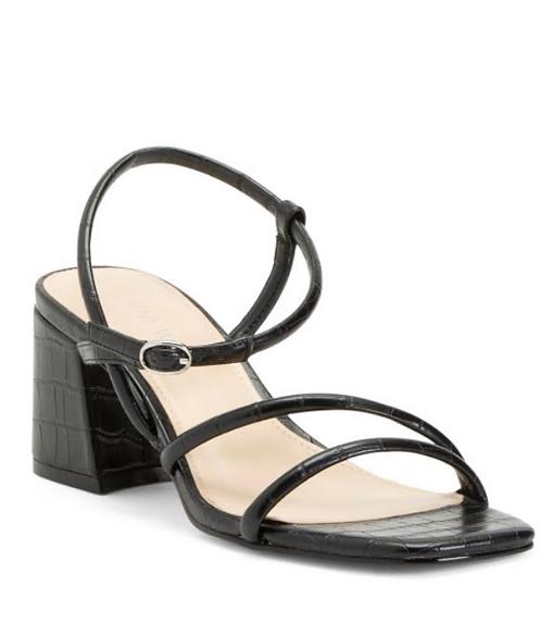String Strap Block Heel Women's Shoe