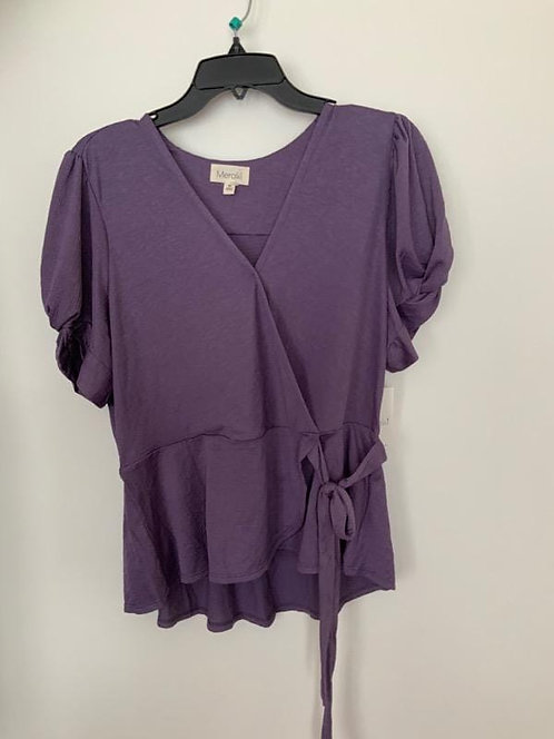 Night Out Blouse Purple