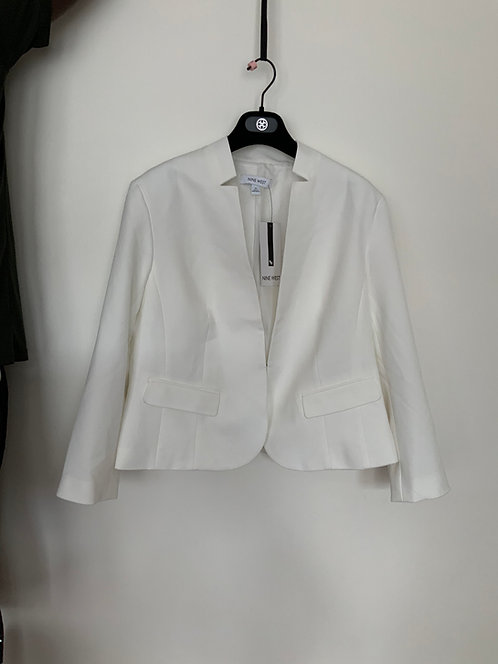 Nine West  Lily White Blazer Size Medium