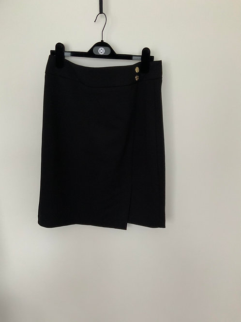 Anne Klein 2 Buttons Black Skirt size 10