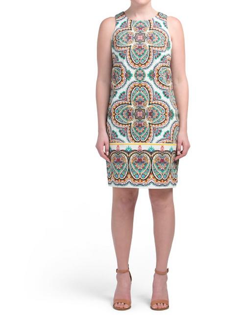 London Times Mosaic Summer Dress