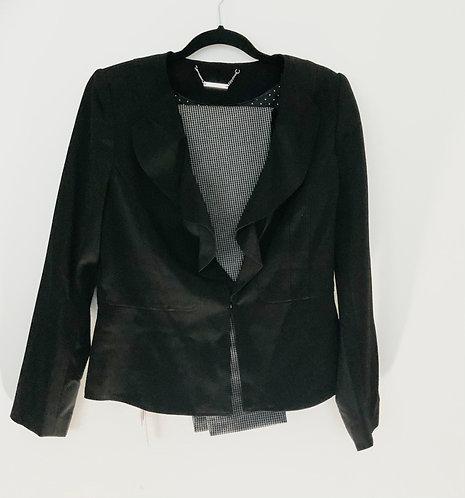 Black Blazer and Plaid Pant Suit
