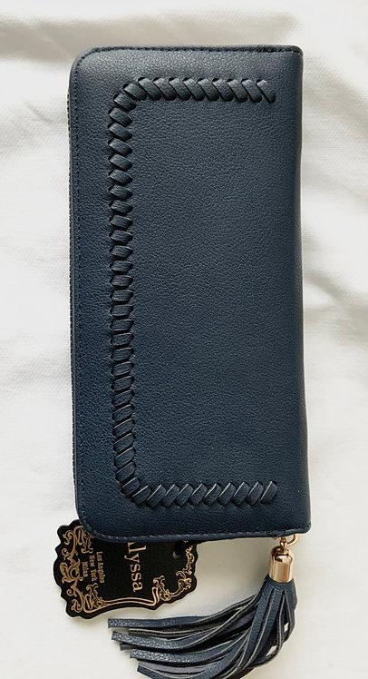 Black Alyssa women's Black Floral wallet