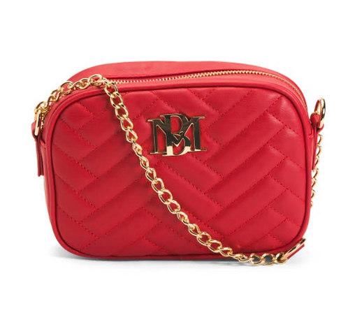 Badgley Mischka  Red Quilted Camera Bag