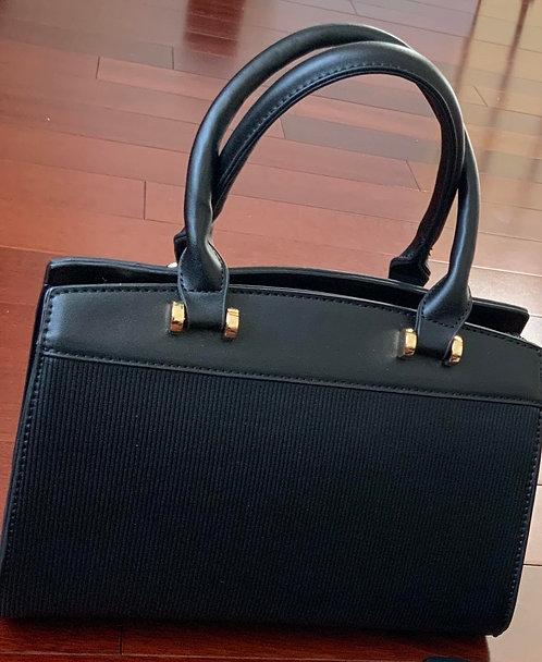 Gold Nuggets Black Handbag