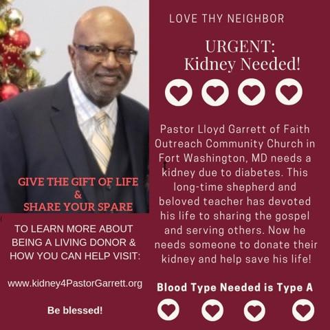 Pastor Garrett Kindey Donation Flyer.jpe