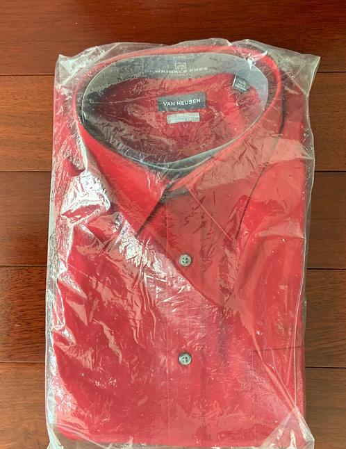 Van Heusen Crimson Red Shirt Size 17