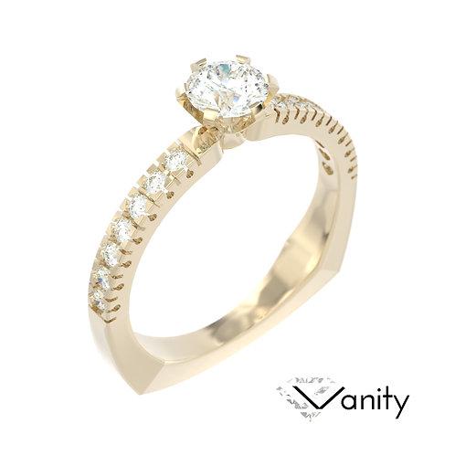"""""""Vanity"""" pierścionek z diamentami z żółtego złota"""