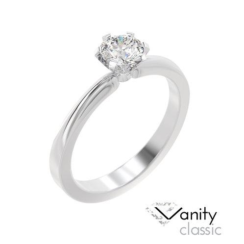 """""""Vanity"""" pierścionek z diamentem z platyny"""