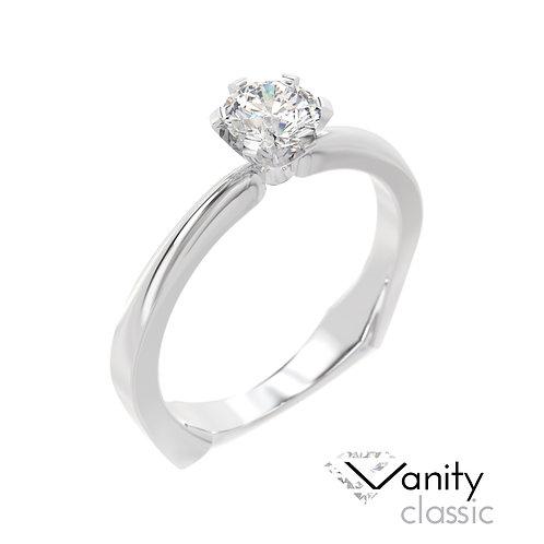 """""""Vanity Classic"""" pierścionek z diamentem z białego złota"""