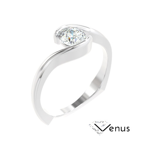 """""""Venus"""" pierścionek z diamentem z białego złota"""
