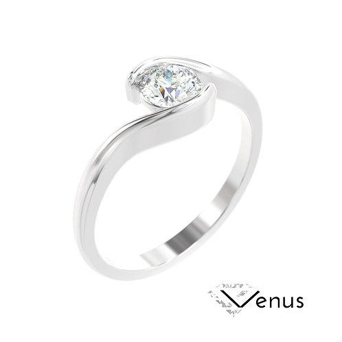 """""""Venus"""" pierścionek z diamentem z platyny"""