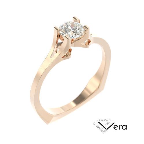 """""""Vera"""" pierścionek z diamentem z różowego złota"""