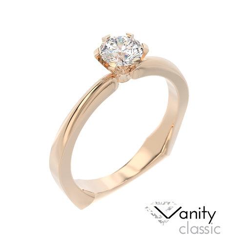 """""""Vanity Classic"""" pierścionek z diamentem z różowego złota"""