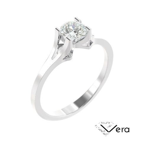 """""""Vera"""" pierścionek z diamentem z platyny"""