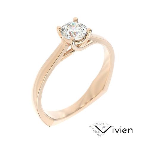 """""""Vivien"""" pierścionek z diamentem z różowego złota"""