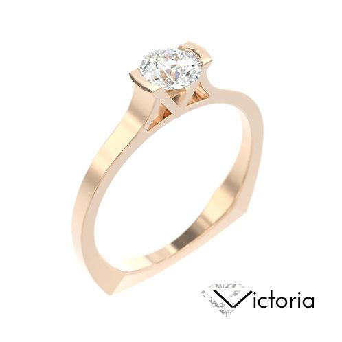 """""""Victoria"""" pierścionek z diamentem z różowego złota"""