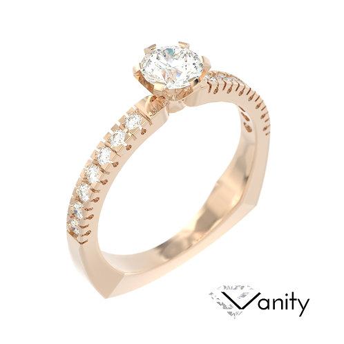 """""""Vanity"""" pierścionek z diamentami z różowego złota"""