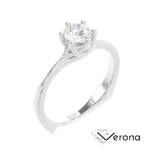 """""""Verona"""" pierścionek z diamentem z białego złota"""
