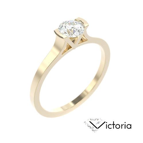 """""""Victoria"""" pierścionek z diamentem z żółtego złota"""