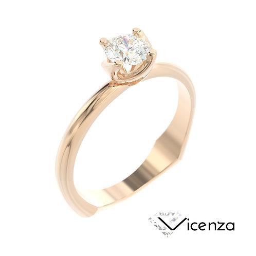 """""""Vicenza"""" pierścionek z diamentem z różowego złota"""