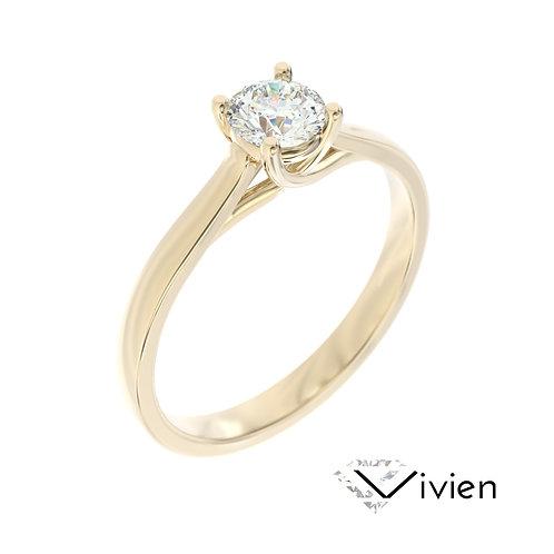 """""""Vivien"""" pierścionek z diamentem z żółtego złota"""