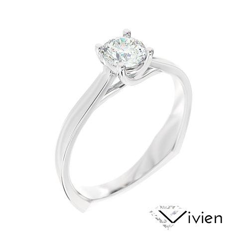 """""""Vivien"""" pierścionek z diamentem z białego złota"""
