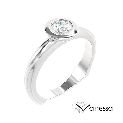 """""""Vanessa"""" pierścionek z diamentem z białego złota"""