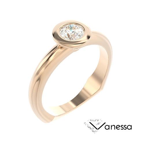 """""""Vanessa"""" pierścionek z diamentem z różowego złota"""
