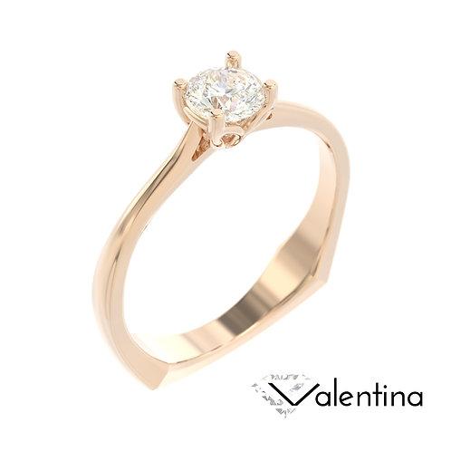 """""""Valentina"""" pierścionek z diamentem z różowego złota"""