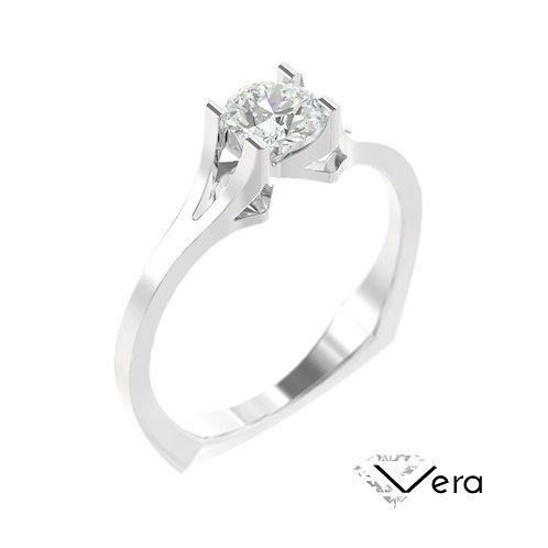 """""""Vera"""" pierścionek z diamentem z białego złota"""