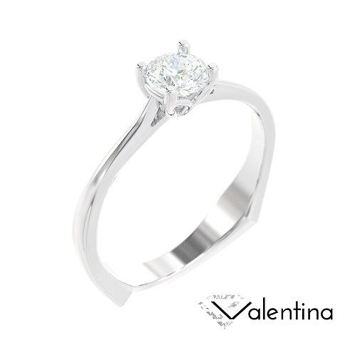 """""""Valentina"""" pierścionek z diamentem z białego złota"""
