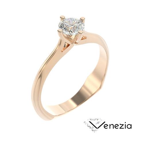 """""""Venezia"""" pierścionek z diamentem z różowego złota"""